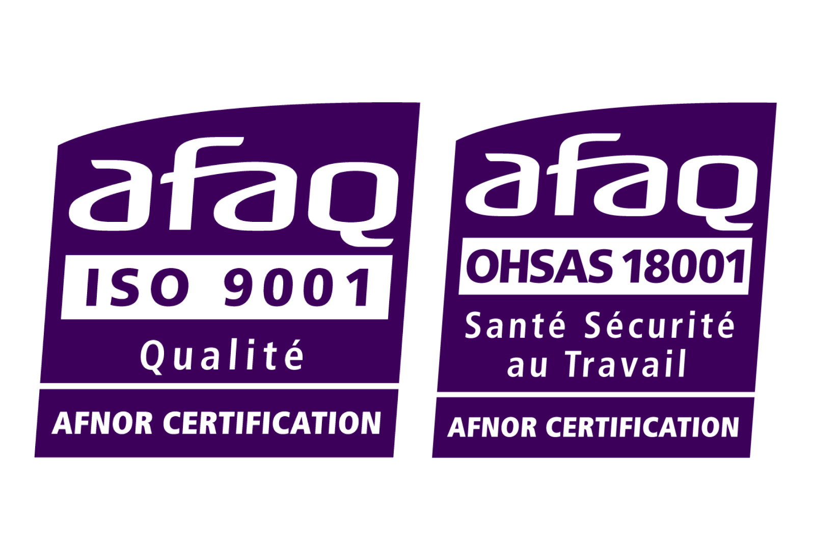Certification ISO 9001 & OHSAS 18001